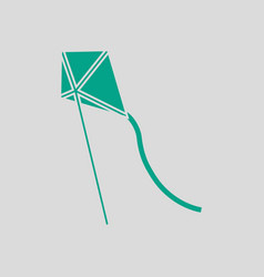 Kite in sky icon vector
