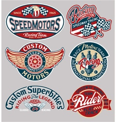 motor patches collection vector image vector image