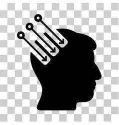 Neuro interface icon vector