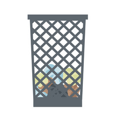 Office paper in the trash can object recycle vector