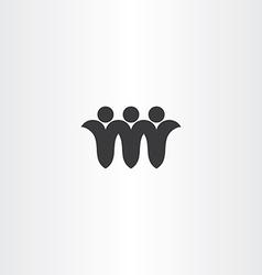 People friends black icon symbol vector