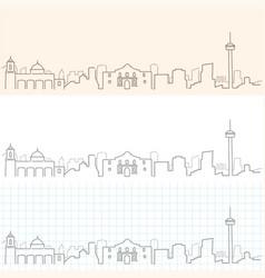 San antonio hand drawn skyline vector