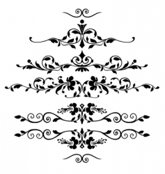 set of floral ornaments vector image