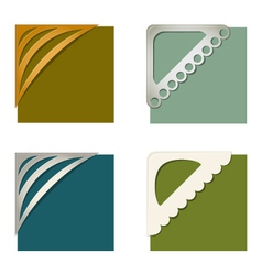 Set of photo corners vector image vector image