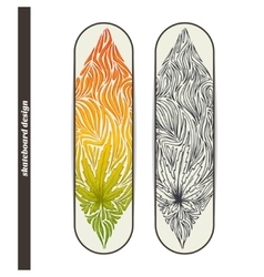 Skateboard design three vector