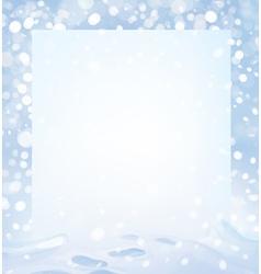 Winter page vector