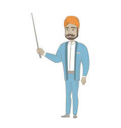 Young hindu businessman with a pointer vector