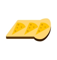 Breakfast white bread toast vector