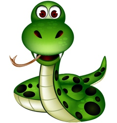 Friendly snake vector
