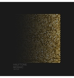 Golden halftone pattern vector
