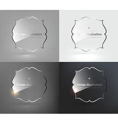 Glass Design Set vector image