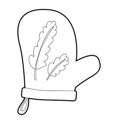 Mitten icon outline style vector