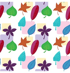 A wallpaper with colorful leaves vector image