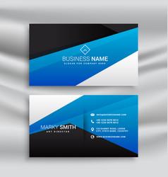 Blue business card stationary design for brand vector