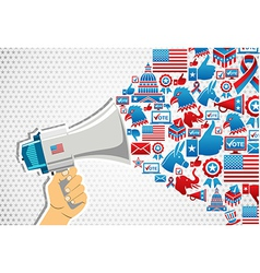 Us elections politics message promotion vector