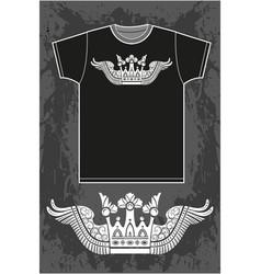 Black short sleeved t-shirt vector