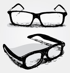 Glasses transparent vector