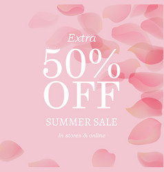 Summer sale pink banner vector