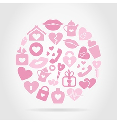 Love sphere2 vector image