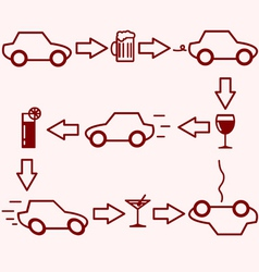 Alcohol and Driving vector image