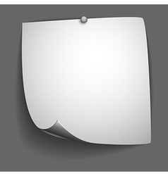 Blank page design vector image