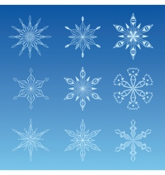 illustration of snowflake vector