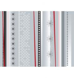 wrapping paper silver vector image