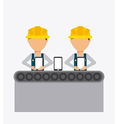 Manufacturing phones vector