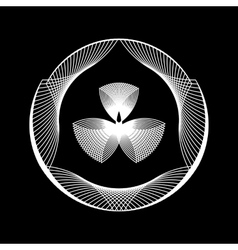 White abstract fractal shape vector