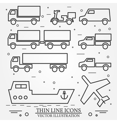 Delivery icon thin line for web and mobile modern vector