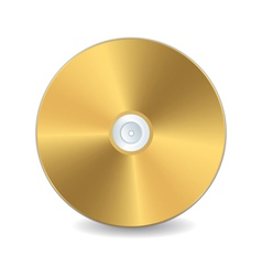 A golden compact disc vector
