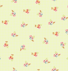 Seamless pattern with little flowers vector