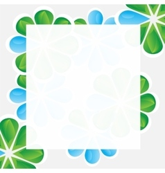 Floral background - card with copy space vector image