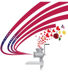 abstract usa independence backround vector meat gr vector image