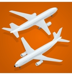 Airplane icon flat 3d isometric high quality vector