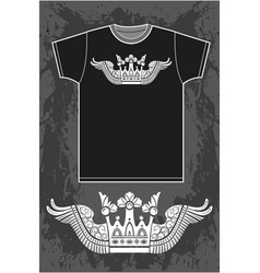 black short sleeved t-shirt vector image