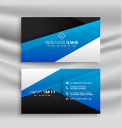 Blue business card stationary design for brand vector