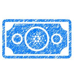 Cardano bank note icon grunge watermark vector