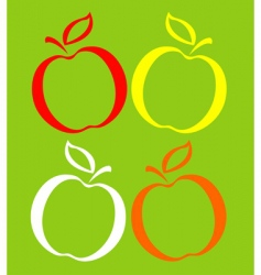 Colored apples vector