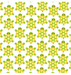 Cute turtle pattern background vector