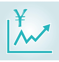 Decreasing graph with yen symbol vector
