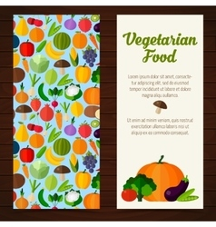 Fruits and vegetables banners vector image