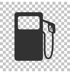 Gas pump sign dark gray icon on transparent vector