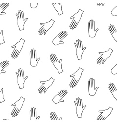 Hands hipster seamless pattern vector