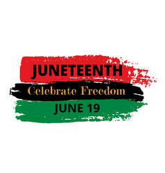 Juneteenth vector