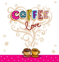 love between coffee and tea vector image