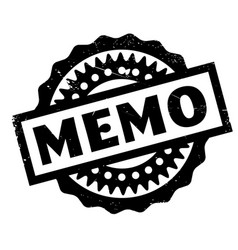 Memo rubber stamp vector