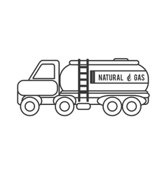 natural Gas Truck icon vector image