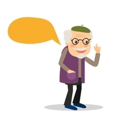 Older man with speech bubble vector