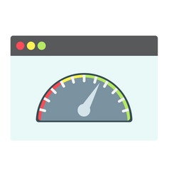 page speed flat icon seo and development vector image vector image